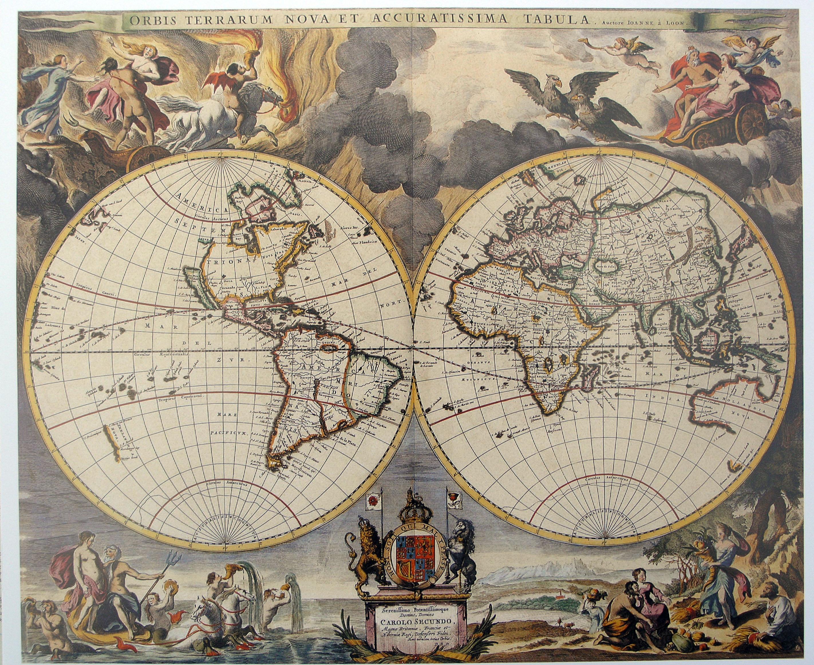 Карта мира 1680 г