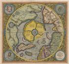 Карта Северного полушария 1595 г.